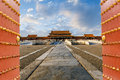 The ancient royal palaces of the Forbidden City in Beijing Royalty Free Stock Photo