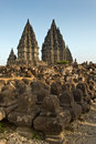 Ancient ruin of prambanan at hindu temple yogyakarta indonesia Royalty Free Stock Photography