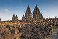 Ancient ruin of prambanan at hindu temple yogyakarta indonesia Stock Photography
