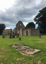 Ancient Ruined Derelict Scottish Church and Graveyard