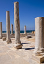 The Ancient Ruins of Caesarea Stock Image