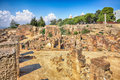 Ancient ruins in carthage tunisia district of punic byrsa Royalty Free Stock Images