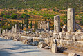 Ancient ruins in ephesus turkey archeology background Royalty Free Stock Image