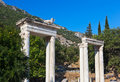 Ancient ruins in ephesus turkey archeology background Stock Image