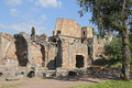 Ancient ruins of hadrian s villa tivoli italy april adriana in italian is a large roman archaeological complex at tivoli Stock Photography