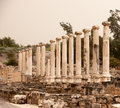 Ancient ruins in israel travel national park with for tourists attraction Royalty Free Stock Photo