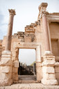 Ancient ruins in israel travel national park with for tourists attraction Royalty Free Stock Images