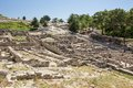Ancient ruins of kamiros in rhodes greece Royalty Free Stock Image