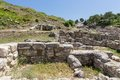 Ancient ruins of kamiros in rhodes greece Stock Photo