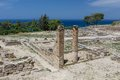 Ancient ruins of kamiros in rhodes greece Royalty Free Stock Photography