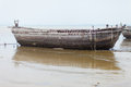 Ancient ruins of a large boat at sea Stock Photos