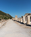 Ancient ruins of old greek city of ephesus the buildings in which was a famous now in turkey Royalty Free Stock Photography