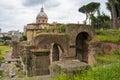 Ancient ruins, Roman Forum. Rome, Italy. Royalty Free Stock Photo