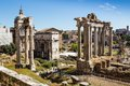 Ancient ruins of roman forum in Rome, Lazio, Italy Royalty Free Stock Photo