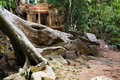 Ancient ruins of Ta Prohm Stock Photos