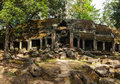 Ancient ruins of ta prohm temple angkor cambodia travel concept background panorama Royalty Free Stock Photos