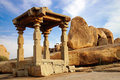Ancient ruins of Temple. Hampi, India. Stock Photos