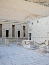 Ancient ruins of temple of hatshepsut at luxor in egypt Stock Image