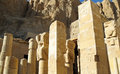 Ancient ruins of temple of hatshepsut at luxor in egypt Stock Photography