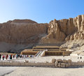 Ancient ruins of temple of hatshepsut at luxor in egypt Royalty Free Stock Photos