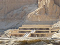 Ancient ruins of temple of hatshepsut at luxor in egypt Stock Images