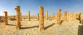 Ancient ruins of town of avdat in israel columns and old founded and inhabited by nabataeans desert negev panorama Stock Image