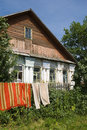 Ancient rural house of the nineteenth century russia Royalty Free Stock Images