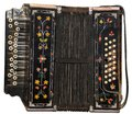 Ancient Russian harmonic on a white background Royalty Free Stock Photo