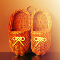 Ancient russian shoes bast pair of Royalty Free Stock Photos