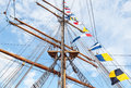 Ancient sailing vessel Stock Photos