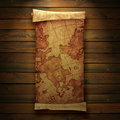 Ancient scroll map Royalty Free Stock Photos