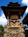 Ancient shrine bali hindu temple a photograph showing the beautiful architectural carved details of a sacred roofed inside a Stock Image