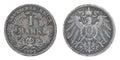 Ancient silver German coin. Stock Photos