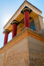 Ancient site of knossos in crete greece palace ceremonial and political centre minoan civilization and culture Royalty Free Stock Photo