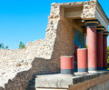 Ancient site of knossos in crete greece palace ceremonial and political centre minoan civilization and culture Royalty Free Stock Photos