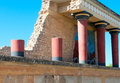 Ancient site of knossos in crete greece palace ceremonial and political centre minoan civilization and culture Royalty Free Stock Images