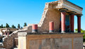 Ancient site of knossos in crete greece palace ceremonial and political centre minoan civilization and culture Royalty Free Stock Image