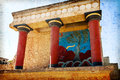 Ancient site of knossos in crete greece palace ceremonial and political centre minoan civilization and culture Stock Photo