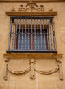 Ancient Spanish window. Royalty Free Stock Photo
