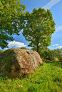 An ancient spiritual stone of baltic tribes latvia Stock Images