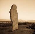 Ancient standing stone ring of brodgar stones world heritage site Stock Images