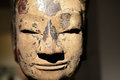 Ancient statue of buddhas head Stock Images