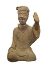 Ancient statue of Chinese man . Royalty Free Stock Photos