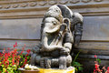 Ancient statue of Lord Ganesha at Pura Ulun Danu Bratan Balinese temple complex on Bratan lake, Bali, Indonesia