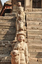 Ancient statues in bhaktapur newar town kathmandu valley nepal Stock Photos