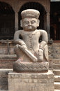 Ancient statues in bhaktapur newar town kathmandu valley nepal Royalty Free Stock Image