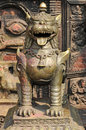 Ancient statues in bhaktapur newar town kathmandu valley nepal Stock Image