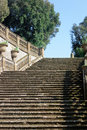 Ancient steps from below Royalty Free Stock Photo
