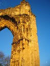 Ancient stone abbey, England. Stock Image