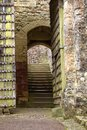 Ancient stone archway in dunster castle Royalty Free Stock Photo